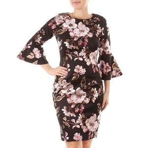 Dresses & Skirts - Floral Off Shoulder Scuba Women Dress